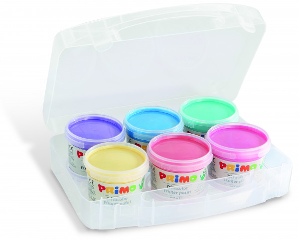 PRIMO pearl finger paints set of 6 x 100g