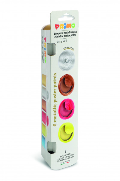 PRIMO tempera paint metal 6 colors assorted