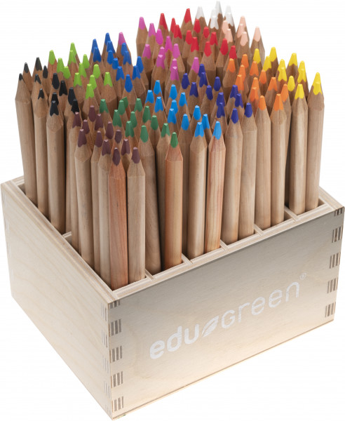 edugreen colored pencil tri wooden display